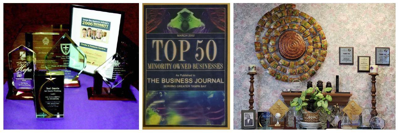 Awards for Sol Davis Printing